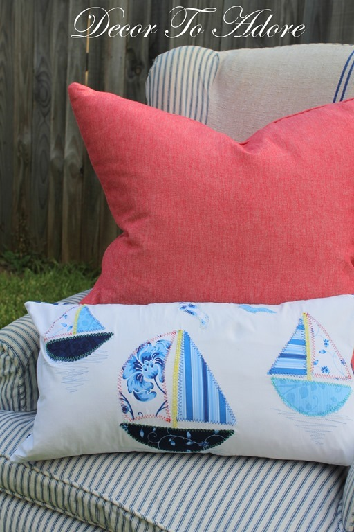 Create A Sailboat Applique Pillow