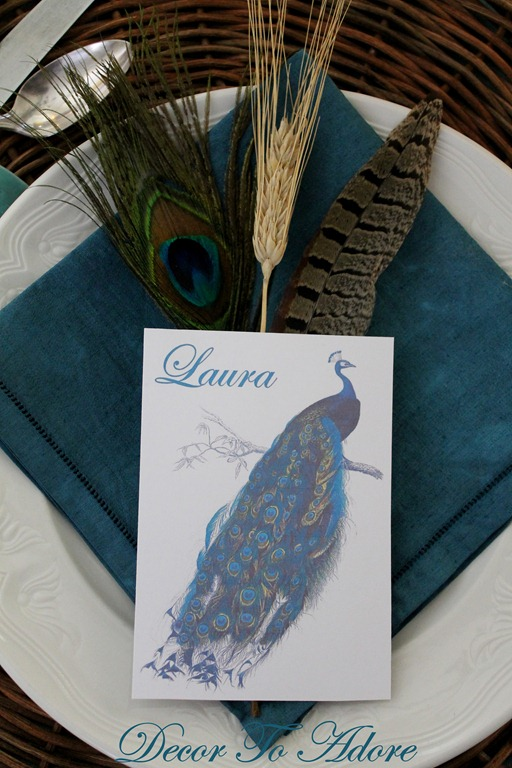 peacock placecards