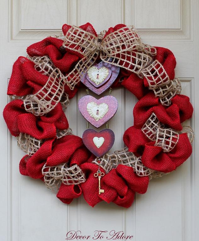 Let My Love Open The Door Valentine Wreath