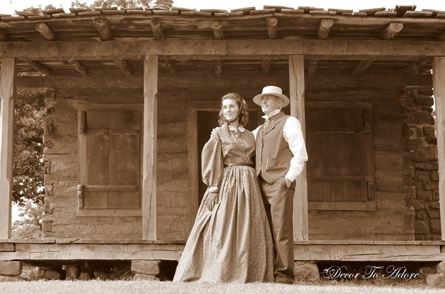 Becoming Laura Ingalls Wilder sepia couple