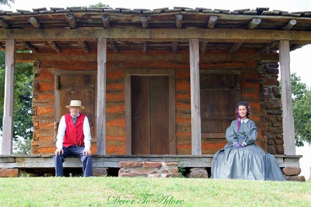 Becoming Laura Ingalls Wilder log cabin