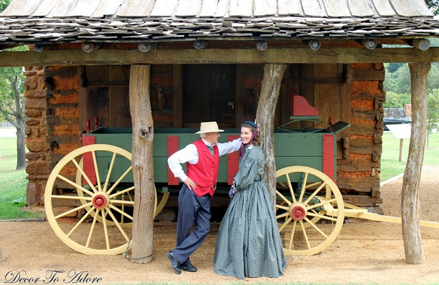 Becoming Laura Ingalls Wilder wagon