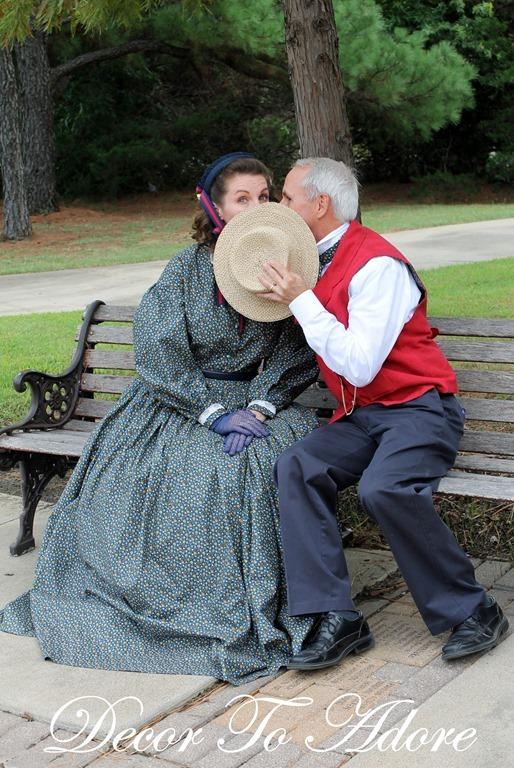 Becoming Laura Ingalls Wilder kiss