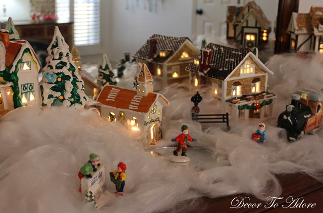 Dept. 56 Snow Village lit up