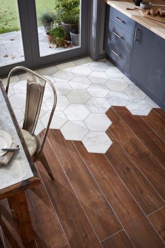 Interior Decor Trends 2017 Hexagony Tiles Floor Terracotta Dining Room
