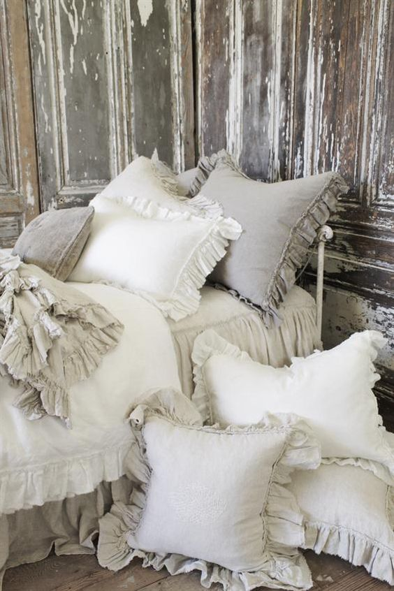 Linen Pillow Shams Made From Scraps Decor To Adore