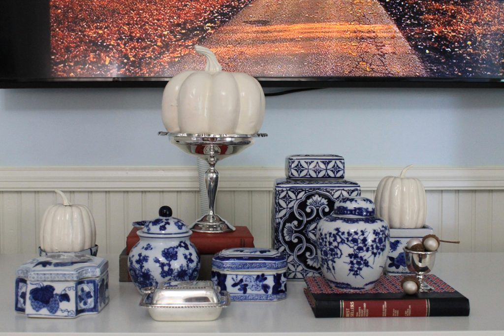 Decor To Adore Fall Home Tour 2017 blue and white china