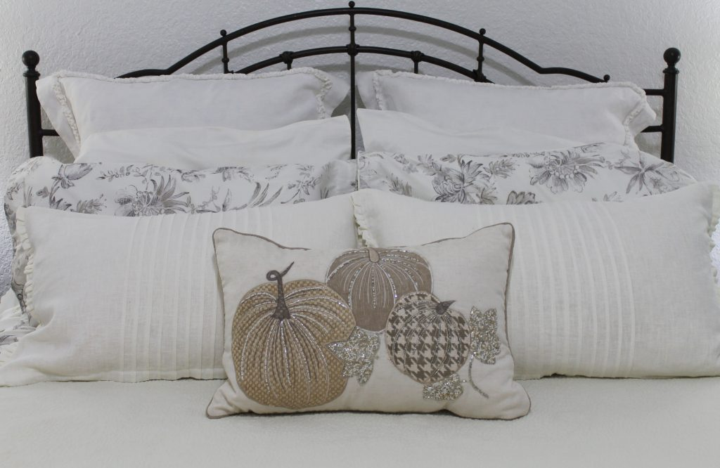 Decor To Adore Home Tour 2017 Bedroom pillow detail