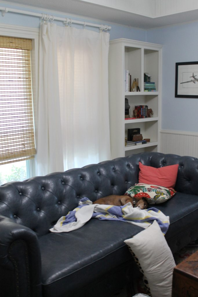 Decor To Adore Real Life Fall Home Tour dog with blanket