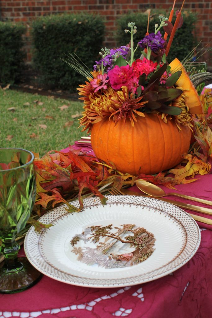 Decor To Adore Storybook Cottage Early Fall Garden table vignette