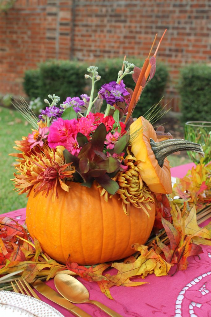 Decor To Adore Storybook Cottage Early Fall Garden pumpkin