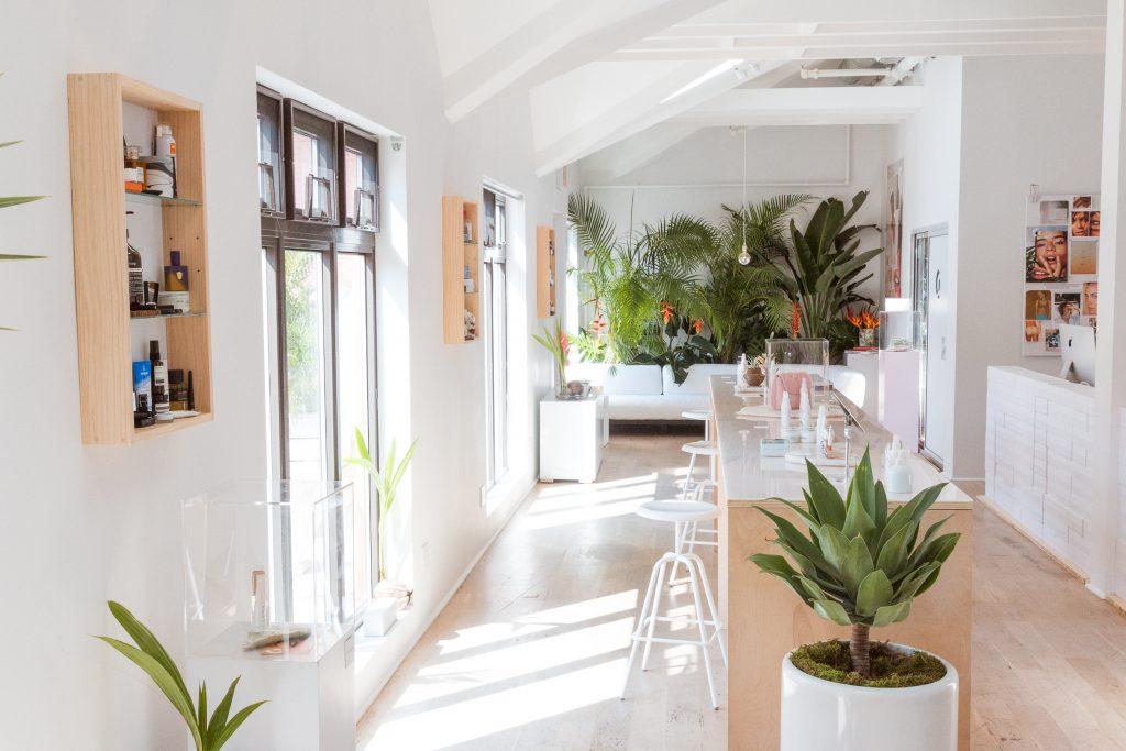 glossier showroom layout