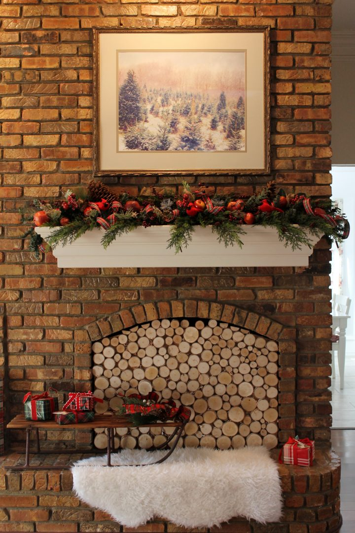 Create A Stacked Birch Log Fireplace Insert Decor To Adore