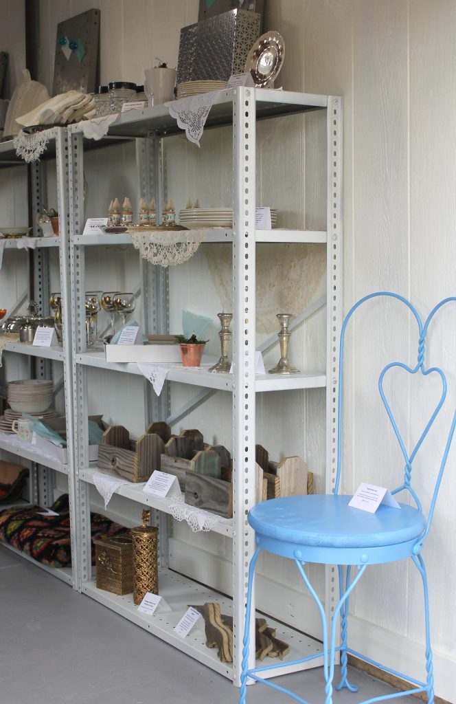 Pop Up Shoppe Reveal shelves