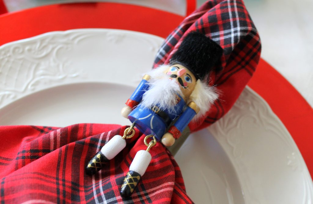 Decor To Adore Christmas Home Tour Kitchen placesetting nutcracker