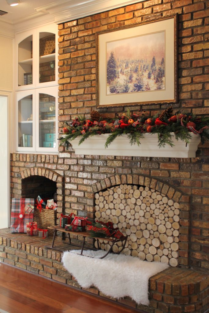 Holiday Home Tour Modern Dickens Fireplace