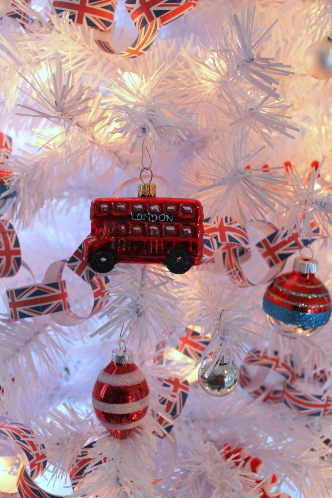 double decker bus ornament