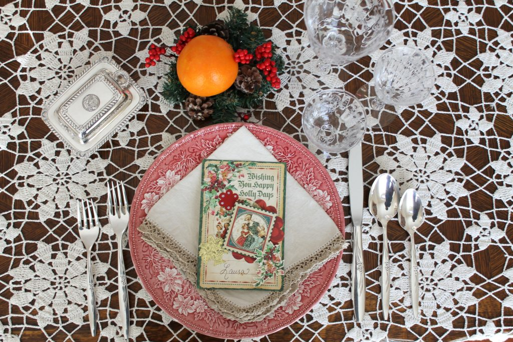 Decor To Adore Christmas Home Tour The Dining table place setting