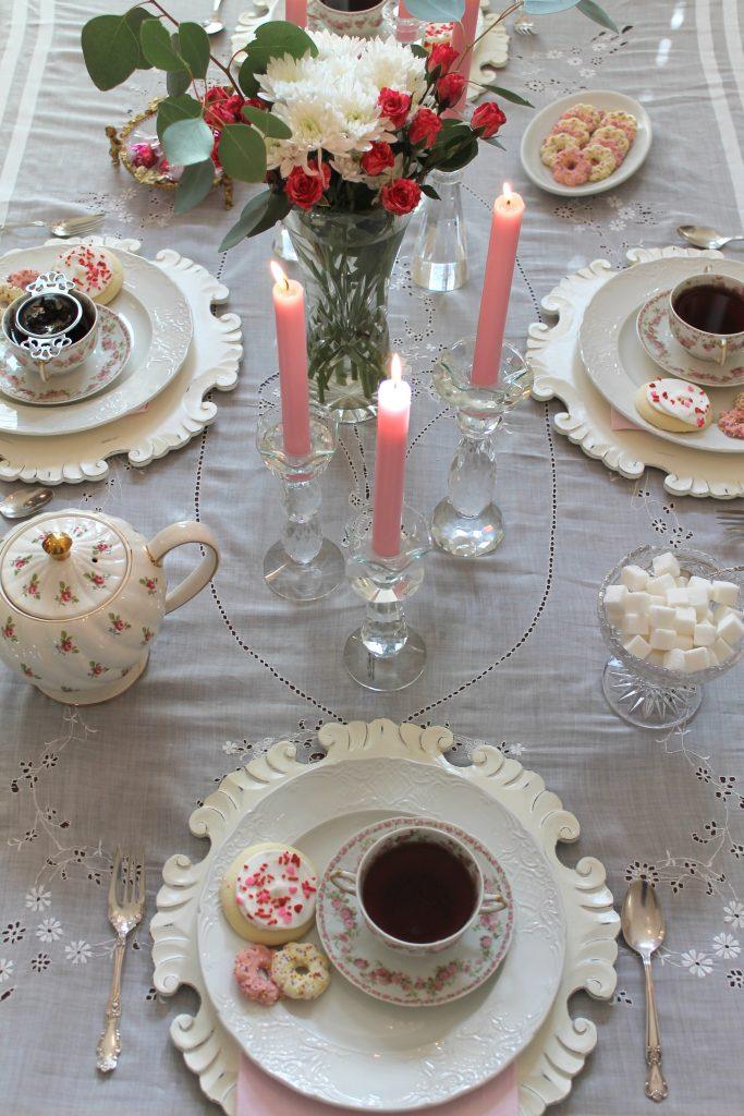 Valentine's Day Victorian Tea Tablescape