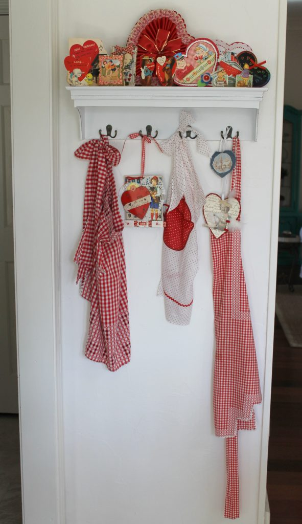 Valentine's Day kitchen shelf