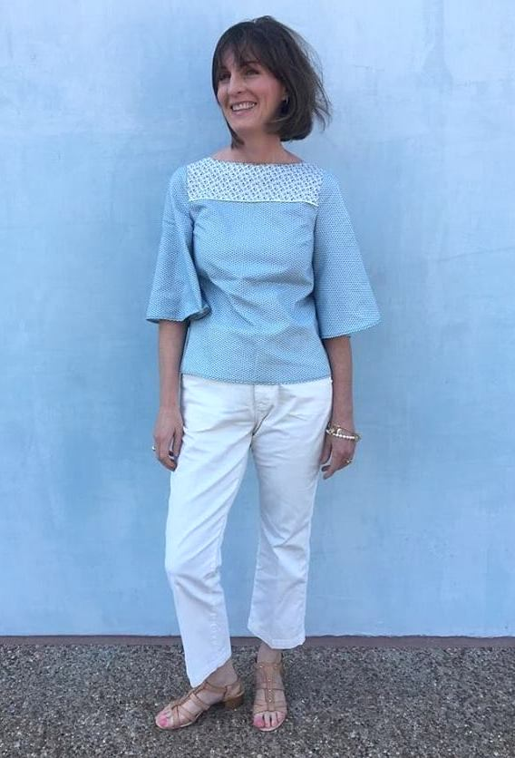 button backed blouse