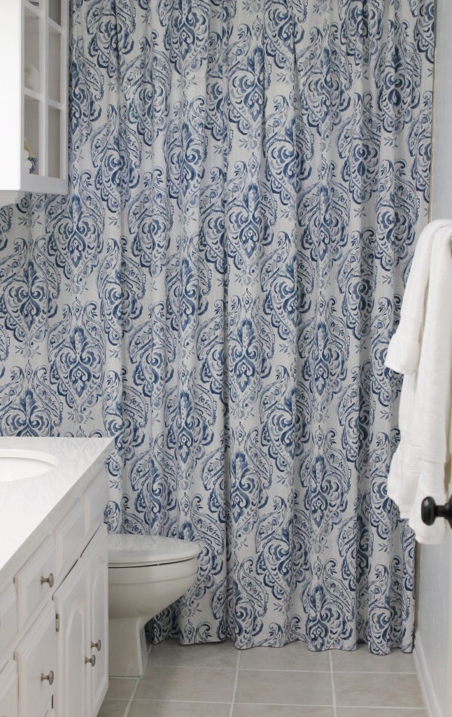 DIY Bathroom Shower Curtain