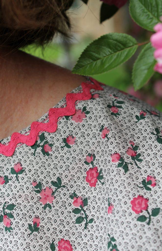 Pink Rose Blouse neckline