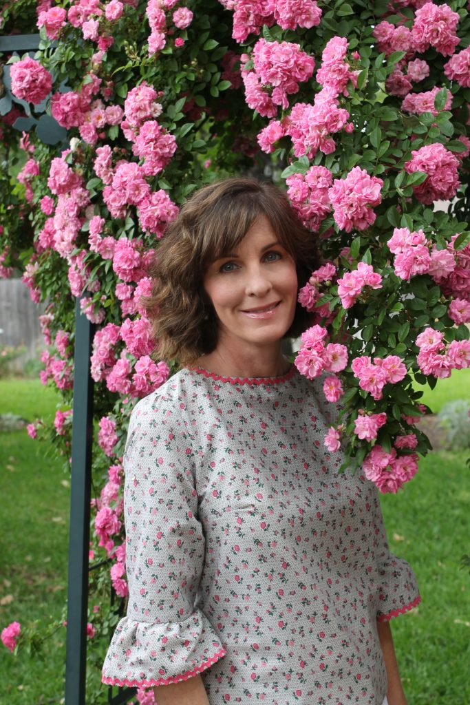 In The Pink Blouse For Spring