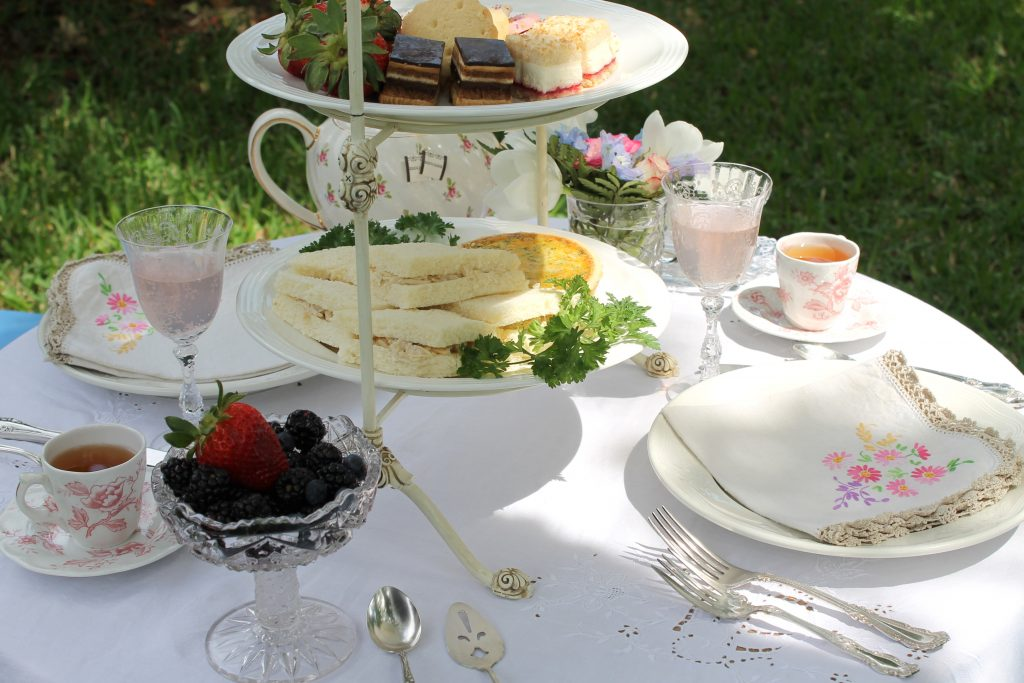 Edwardian Garden Tea Table Fare