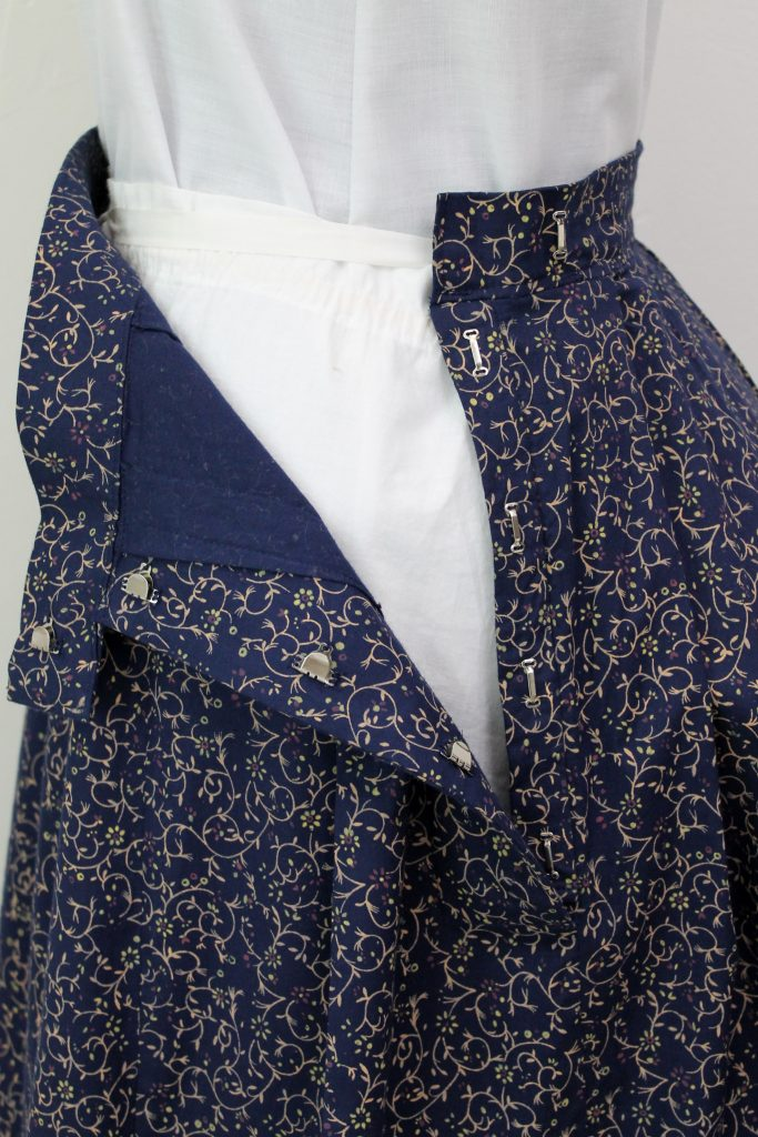 Victorian Calico Skirt Placket