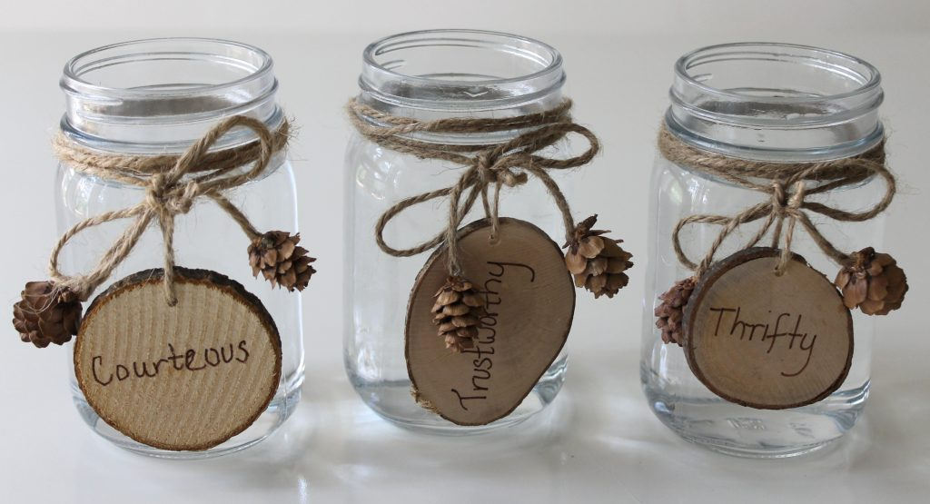 Eagle Party Centerpiece Jars