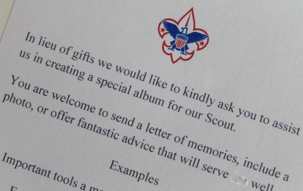Eagle Scout Letters