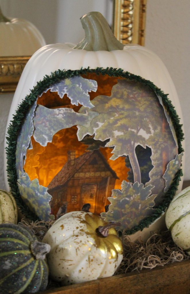Hansel and Gretel 3D Pumpkin Diorama
