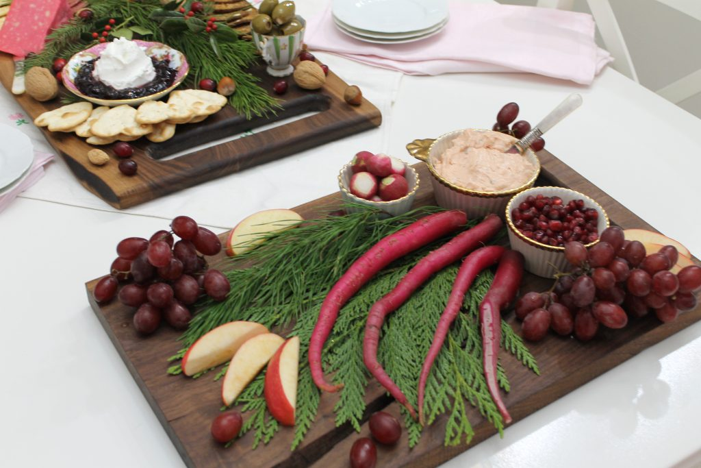 A Pink and Burgundy Inspired Charcuterie Board