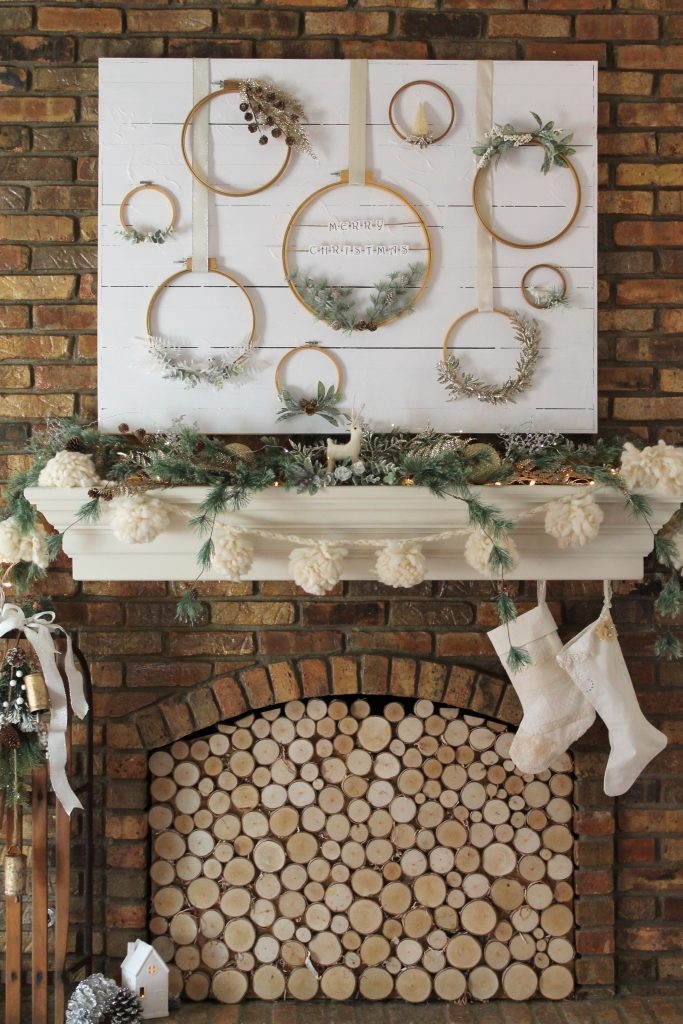 Jumping Through Hoops Holiday Mantel
