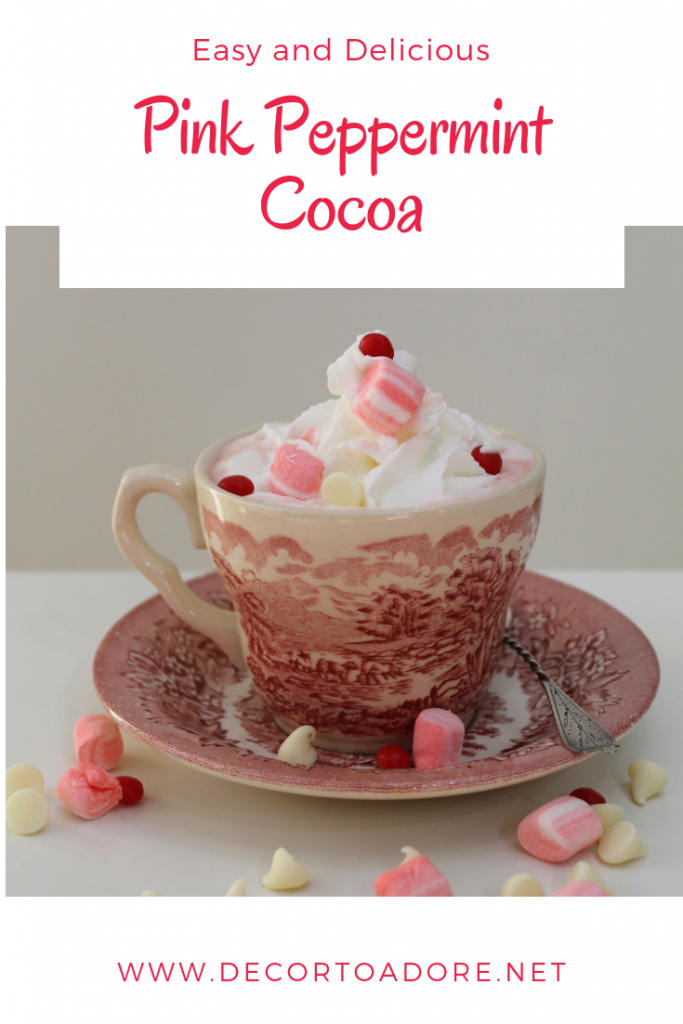 Easy and Delicous Pink Peppermint Cocoa