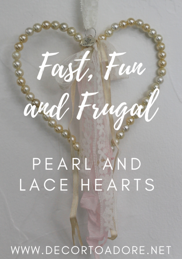 Create Easy Pearl and Lace Hearts
