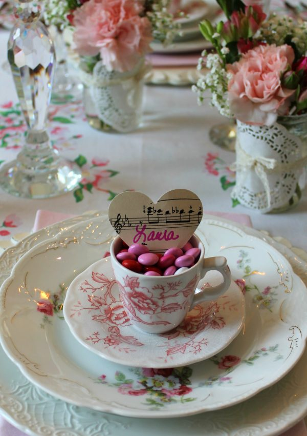 Song In My Heart Valentine Tablescape