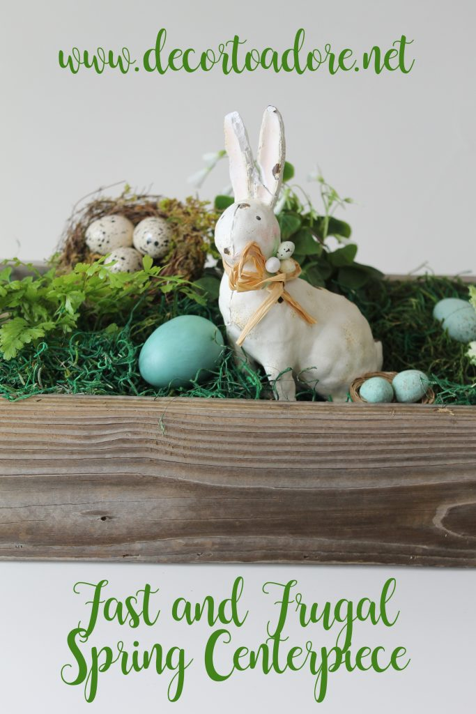 Fast and Frugal Spring Centerpiece
