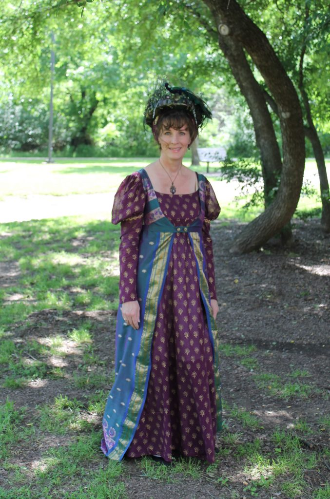 A Peacock Themed Regency Dress and Open Robe