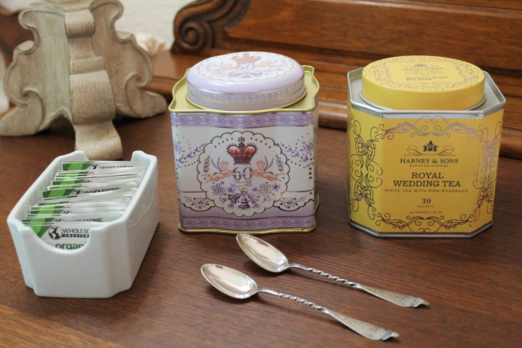 Royal tea canisters