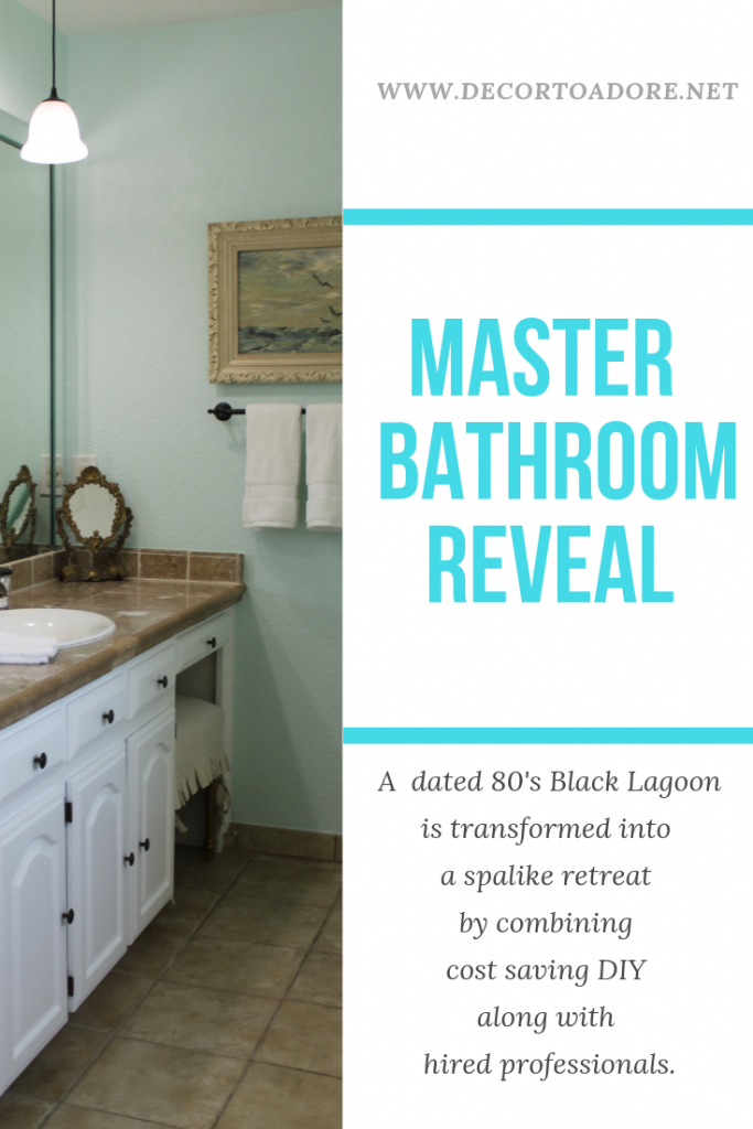 Master Bath Reveal The Black Lagoon Is No More